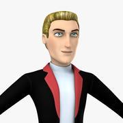 만화 남자 매력적인 남자 3d model