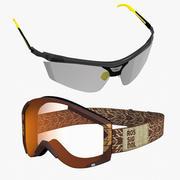 Occhiali per sport invernali 3d model
