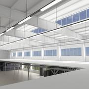 Industriell interiör 3d model