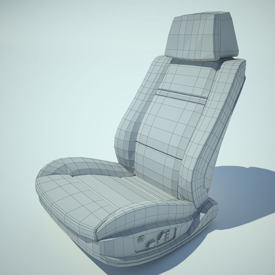 Auto Chairs 01 royalty-free 3d model - Preview no. 18