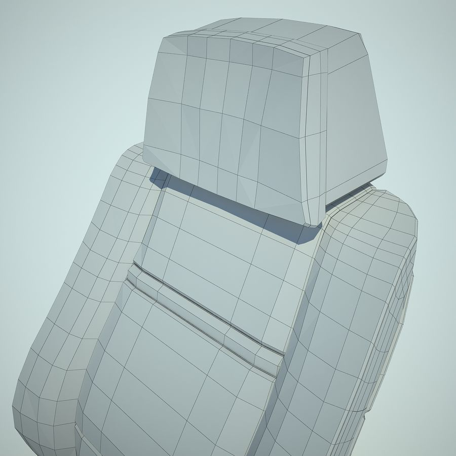 Auto Chairs 01 royalty-free 3d model - Preview no. 30