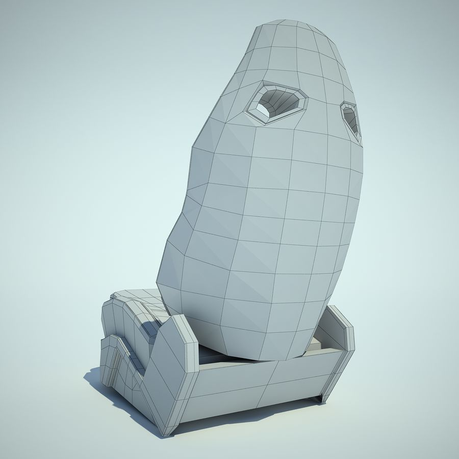 Auto Chairs 01 royalty-free 3d model - Preview no. 13
