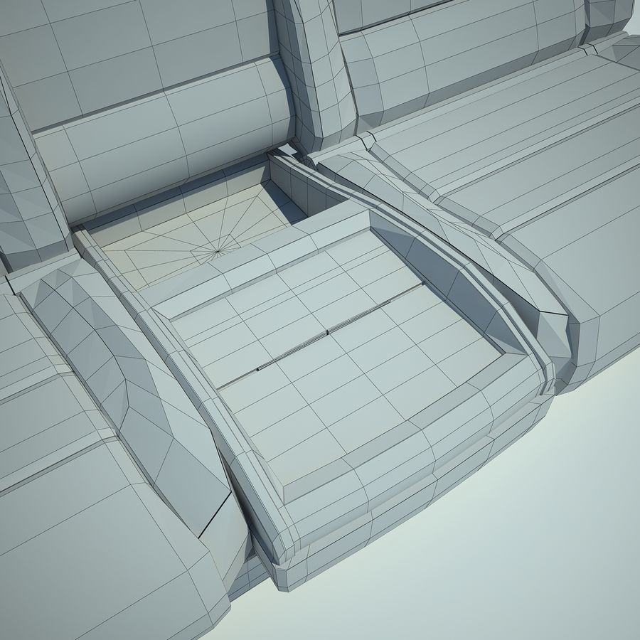 Auto Chairs 01 royalty-free 3d model - Preview no. 40