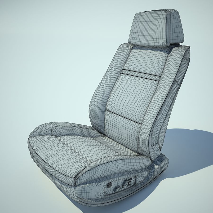 Auto Chairs 01 royalty-free 3d model - Preview no. 17
