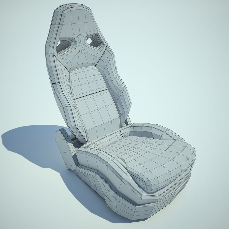 Auto Chairs 01 royalty-free 3d model - Preview no. 9
