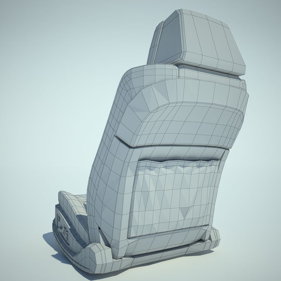 Auto Chairs 01 royalty-free 3d model - Preview no. 26