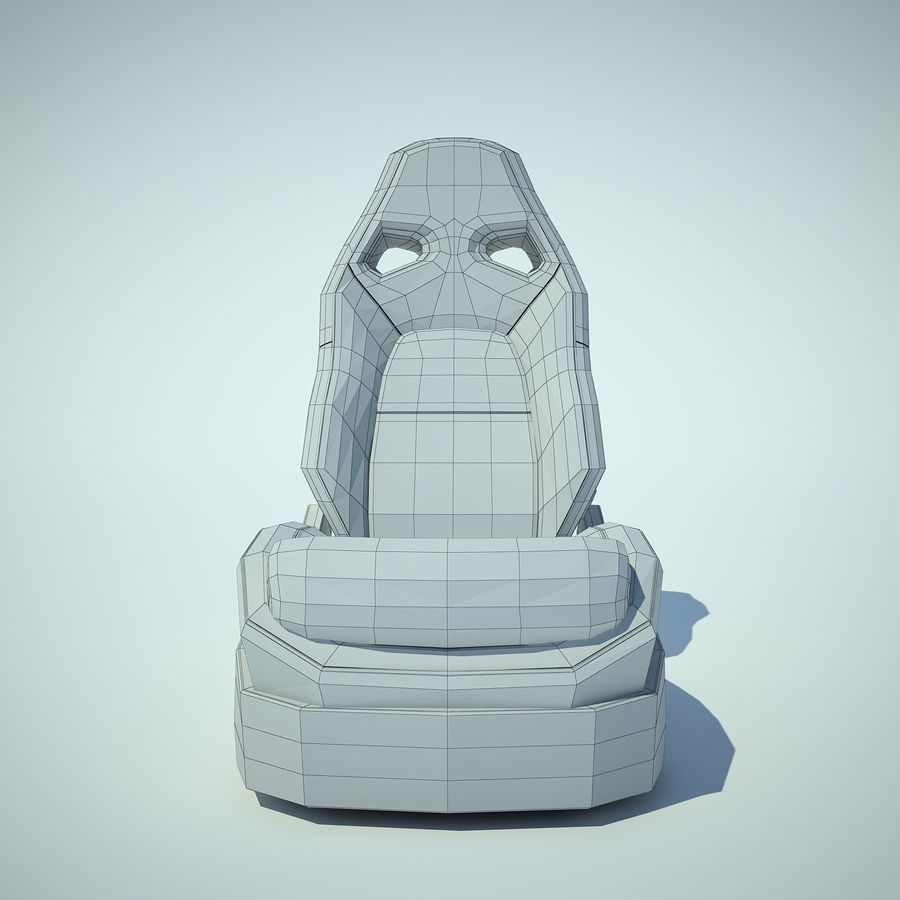 Auto Chairs 01 royalty-free 3d model - Preview no. 7