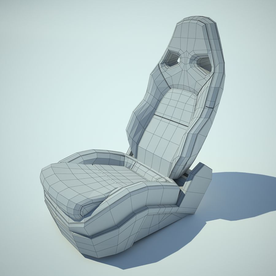 Auto Chairs 01 royalty-free 3d model - Preview no. 5