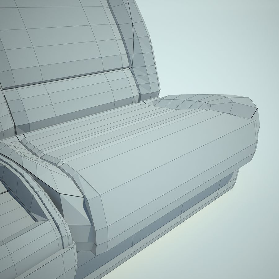 Auto Chairs 01 royalty-free 3d model - Preview no. 42