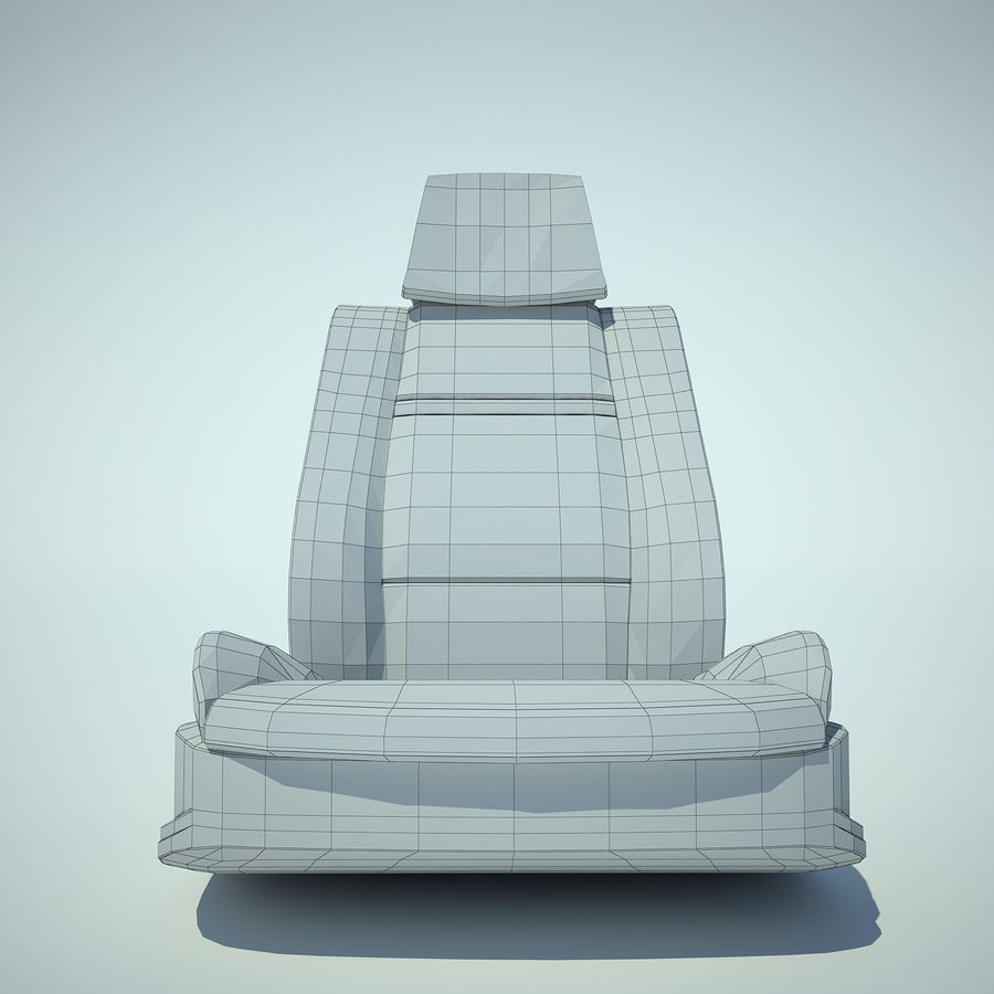 Auto Chairs 01 royalty-free 3d model - Preview no. 20