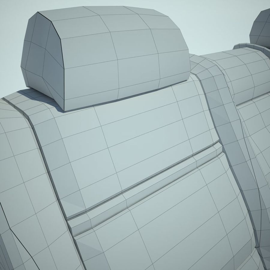 Auto Chairs 01 royalty-free 3d model - Preview no. 41