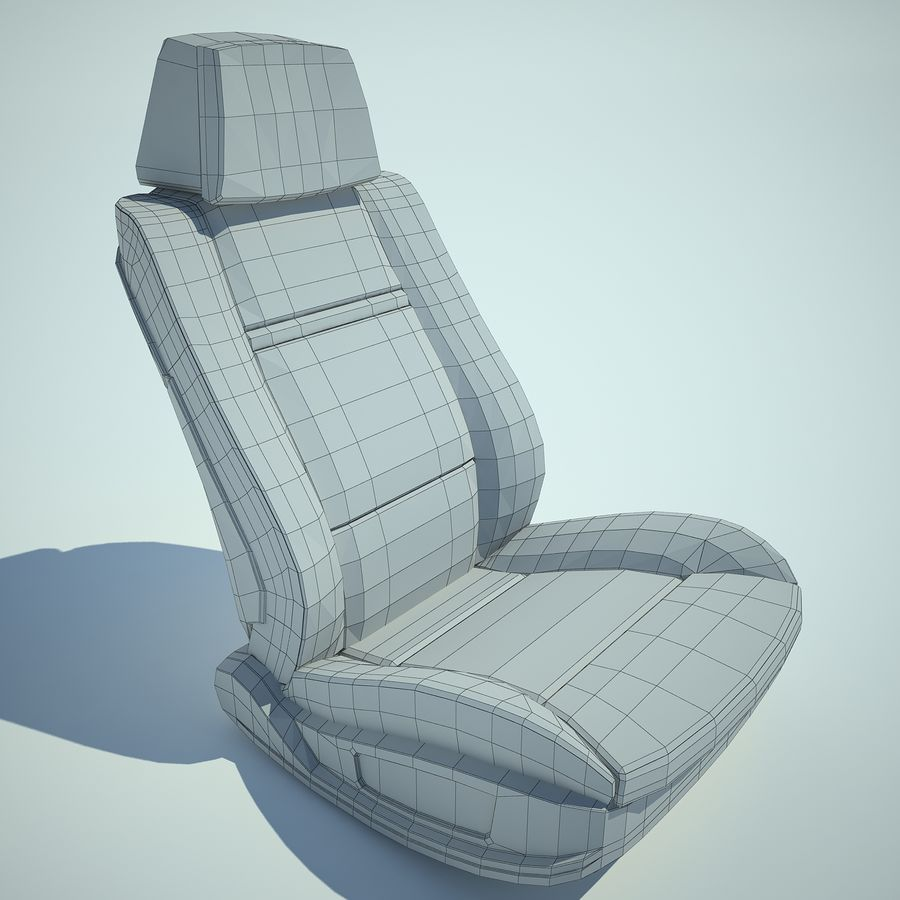 Auto Chairs 01 royalty-free 3d model - Preview no. 22