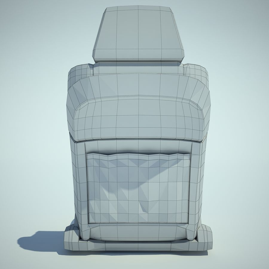 Auto Chairs 01 royalty-free 3d model - Preview no. 28