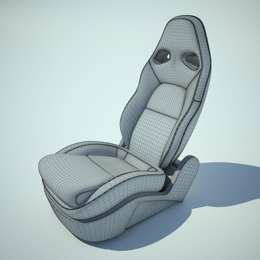 Auto Chairs 01 royalty-free 3d model - Preview no. 4