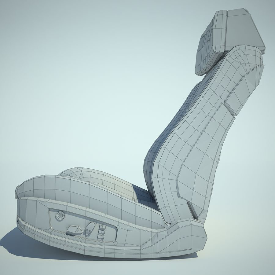 Auto Chairs 01 royalty-free 3d model - Preview no. 24