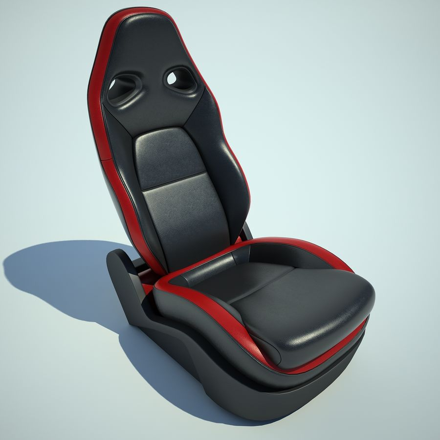 Auto Chairs 01 royalty-free 3d model - Preview no. 8