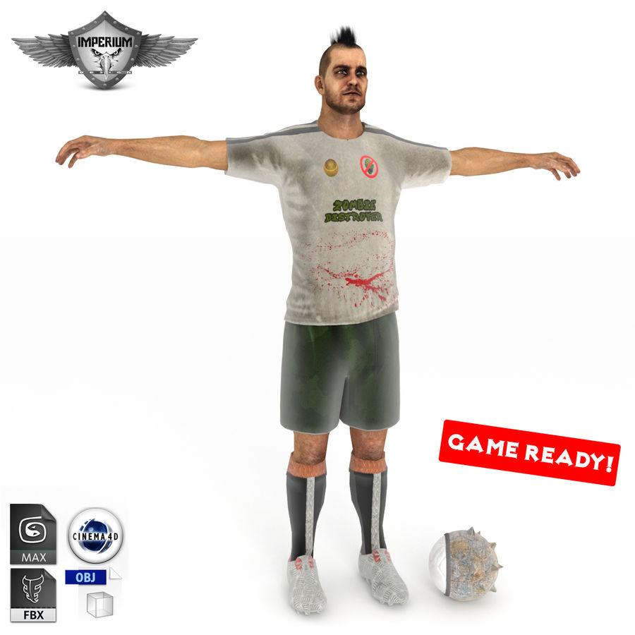 Futbol Zombi Katili royalty-free 3d model - Preview no. 1