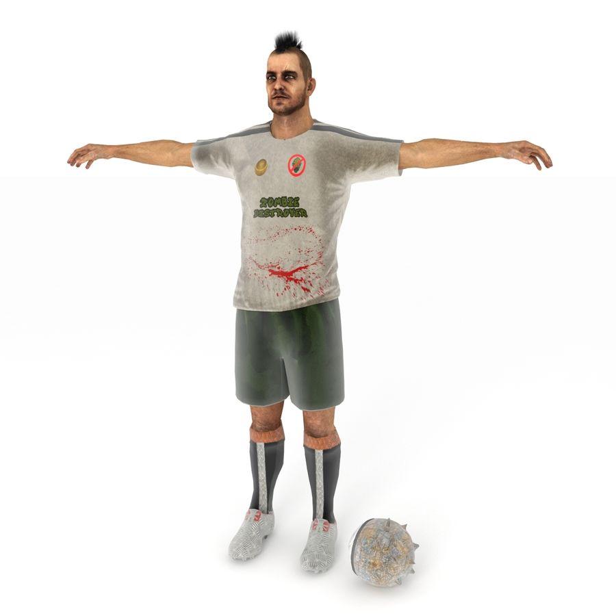 Futbol Zombi Katili royalty-free 3d model - Preview no. 3