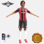 Gracz piłki nożnej 3d model