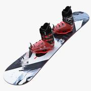 Snowboard Kit 3d model