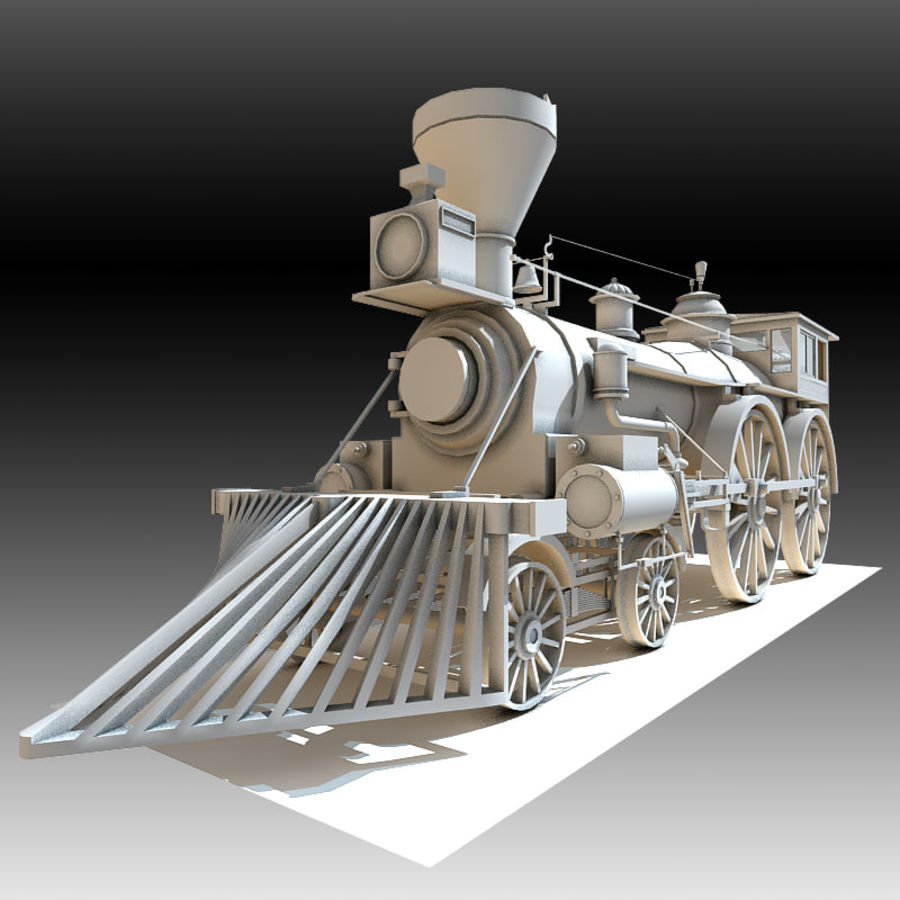 Locomotive royalty-free 3d model - Preview no. 3