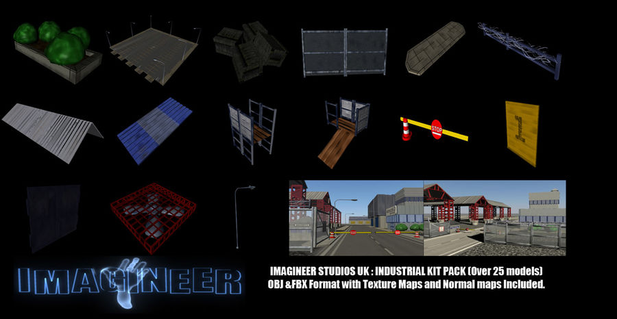 Industrial Kit Pack royalty-free 3d model - Preview no. 1