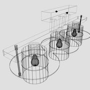 3-shade luster 3d model