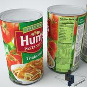 Hunts Pasta Sauce 3d model