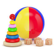 Ball and Blocks Toys 3d model