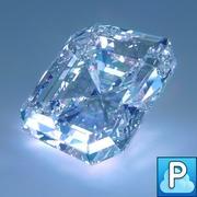 Corte de diamante modelo 3d