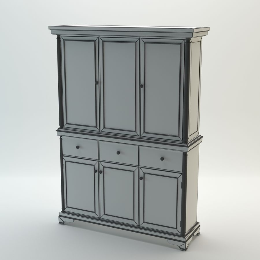 BUFFET ASHLEY royalty-free modelo 3d - Preview no. 6