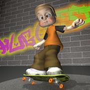 Rapaz dos desenhos animados 3d model
