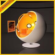 ハイテックボールチェア-モダンレトロデザイン 3d model