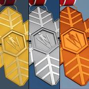 Спортивная зимняя медаль 3d model