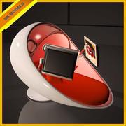 未来的な卵のベッド-モダンで豪華なインテリアデザイン 3d model