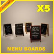 Tablice menu 3d model