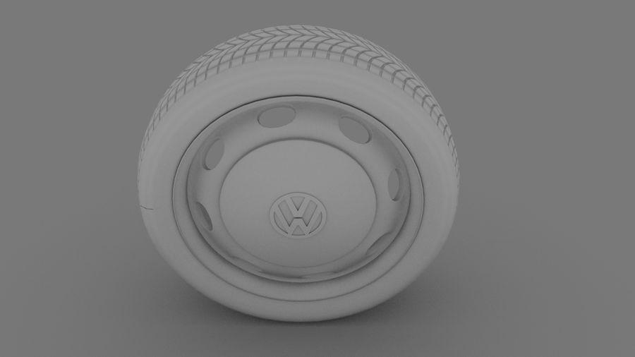 VW Beetle Wheel royalty-free modelo 3d - Preview no. 3