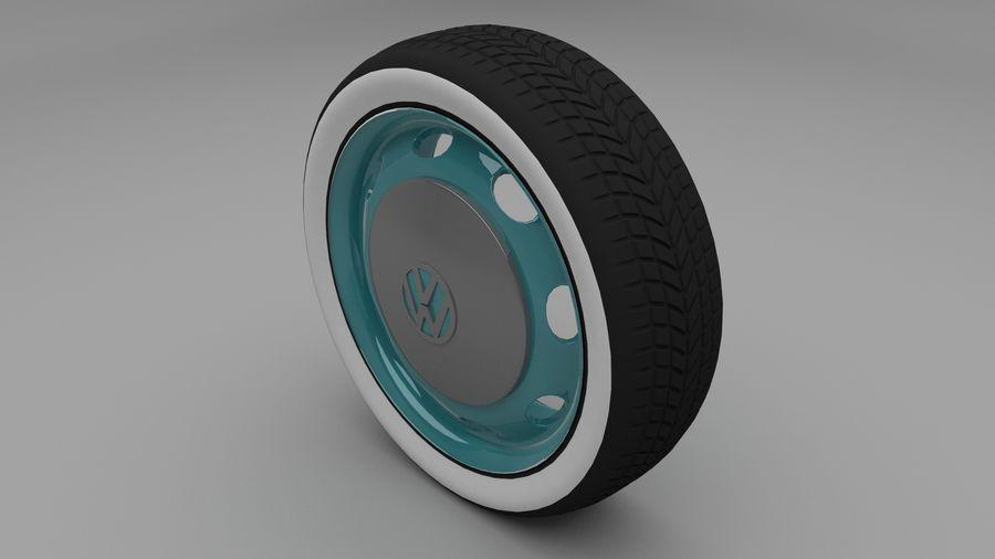 VW Beetle Wheel royalty-free modelo 3d - Preview no. 2