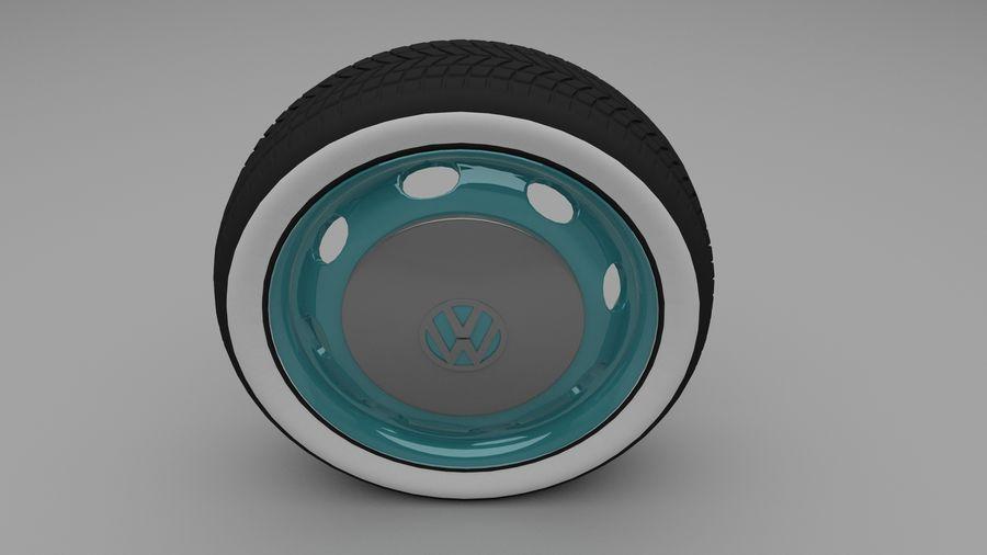 VW Beetle Wheel royalty-free modelo 3d - Preview no. 1