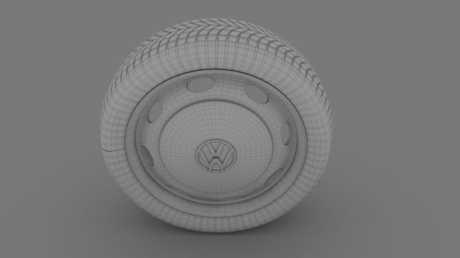 VW Beetle Wheel royalty-free modelo 3d - Preview no. 6