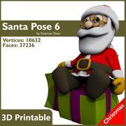 Pose 06 - Jultomten på gåvor 3d model