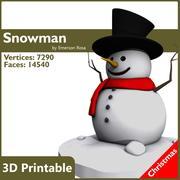 눈사람 3d model