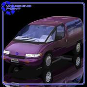 Family Minivan (Poser and Vue) 3d model
