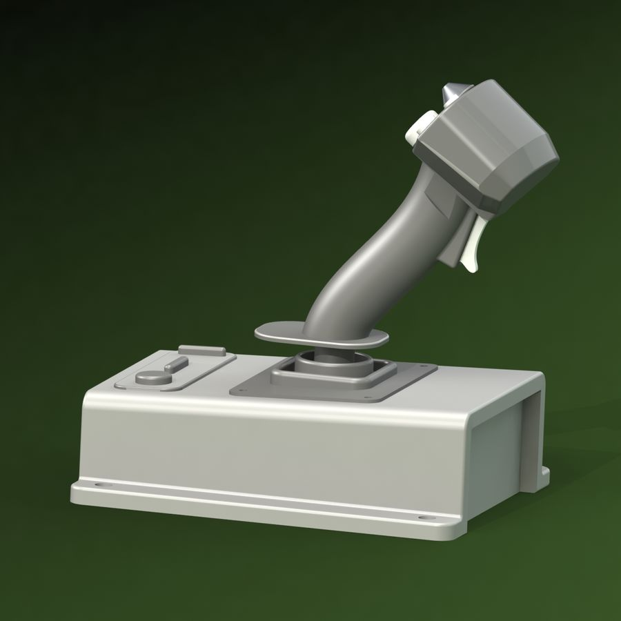 Joystick (1) royalty-free 3d model - Preview no. 5