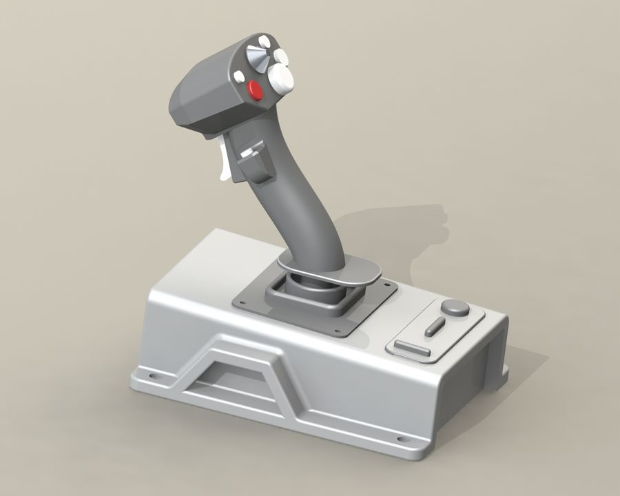 Joystick (1) royalty-free 3d model - Preview no. 1