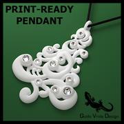 印刷可能なクリスマスツリーペンダント 3d model