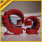 Высокотехнологичный стул - Valentine Setting - Game Chair 3d model