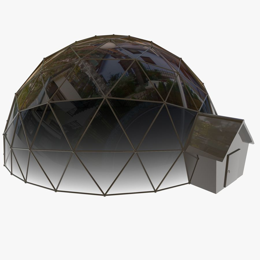 Geodesic House royalty-free 3d model - Preview no. 3