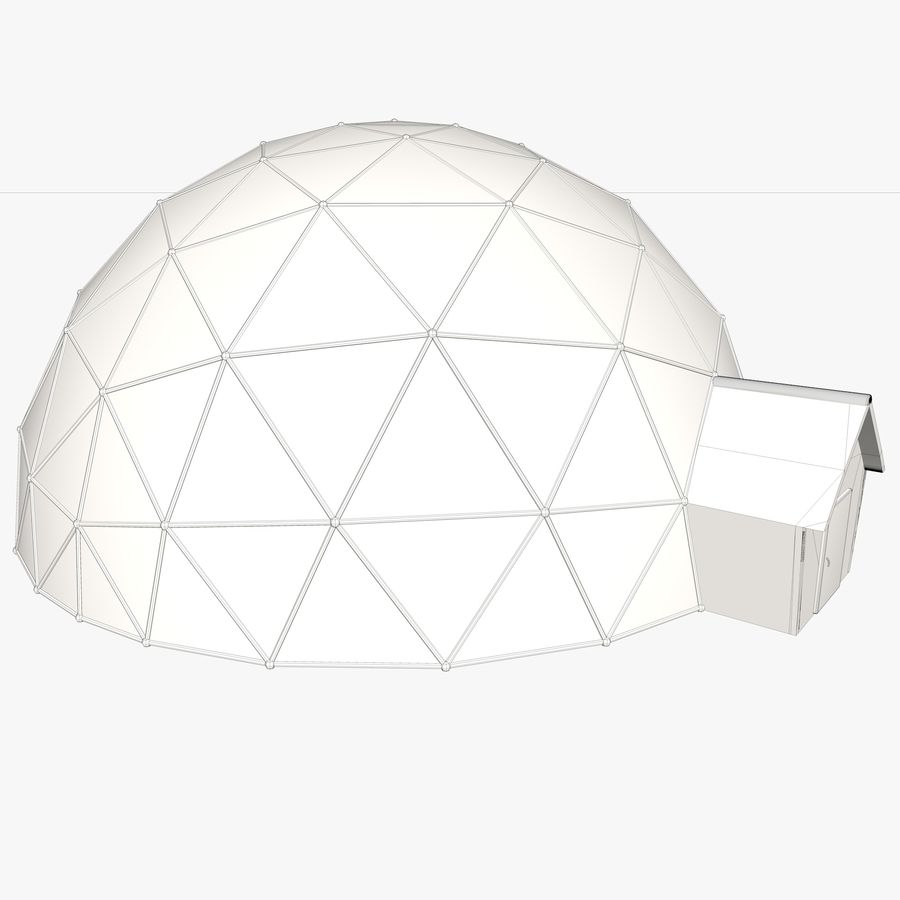 Geodesic House royalty-free 3d model - Preview no. 10