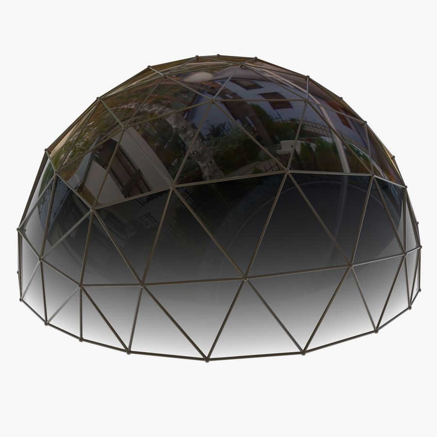 Geodesic House royalty-free 3d model - Preview no. 5